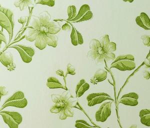 Little Greene green floral wallpaper