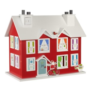 Re-usable Christmas house advent countdown decoration