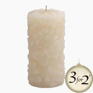 Decorative ornate candle