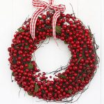 Large cranberry Christmas wreath