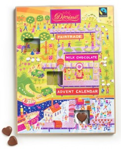 Traditional christmas chocolate advent calendar