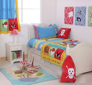 Children's pirate bedroom theme set package