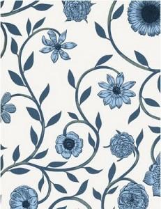 Trailing flower wallpaper