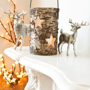 Xmas seasonal silver reindeer home accessory