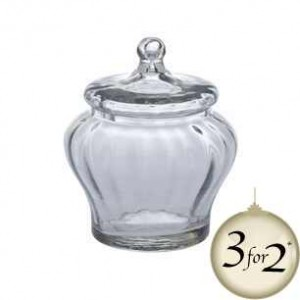 Decorative glass storage jar