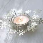 Snowflake tealight holder by Red Lilly