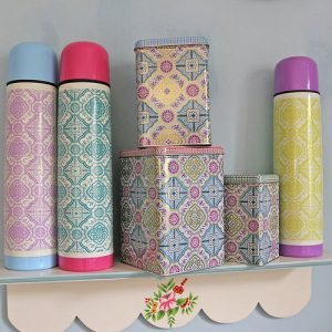 Vintage themed thermos flask