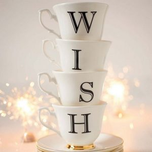 Wish cup and saucer set