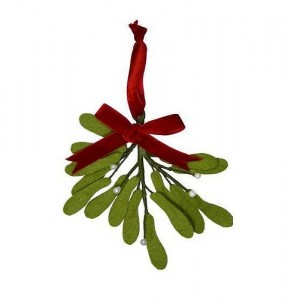 Christmas decoration idea: felt mistletoe sprig