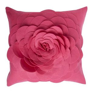 Half price 3D flower felt cushions at Debenhams