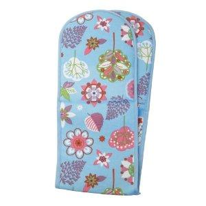 Blue kitchen textile oven glove
