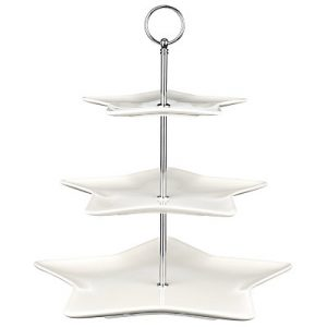 Seasonal star 3 tier cake stand perfect for xmas and mince pies