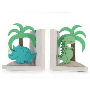 Dinosaur bookends for a boy's bedroom