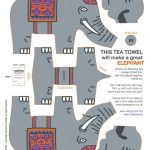 Elephant kit tea towel from Hunkydory Home