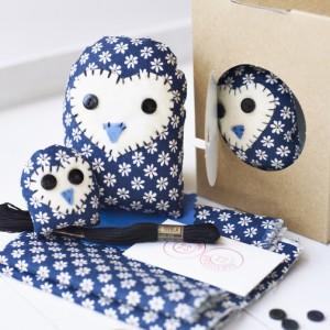 Family children owl craft pack kit