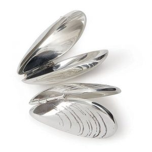Silver plated mussel fish eating cutlery accessories