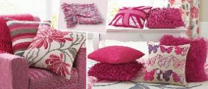Colourful pink cushions from Next