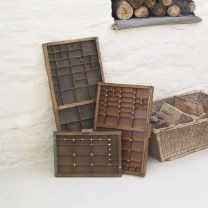 Vintage printers type tray decorative storage