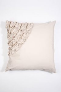 Elegant pale pink bedroom cushion