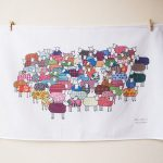 Sheep design tea towel by Mary Kilvert