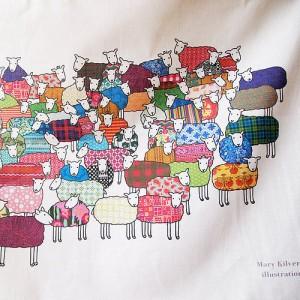 Sheep design by illustrator Mary Kilvert