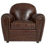 Vintage leather flea market chair