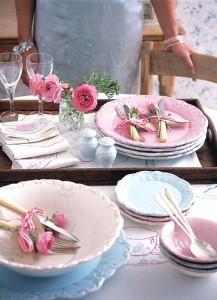 Pastel decorative tea set