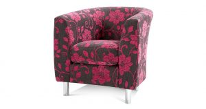 Quartz floral patterned accent chair