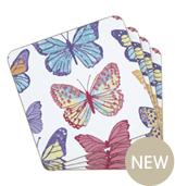 Butterfly flutterby coaster mats