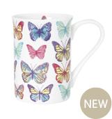 Butterfly girly china mug