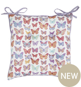 Butterfly mulitcoloured cushion