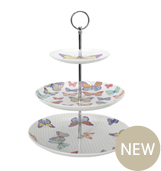 SS11 three tier cake stand afternoon tea