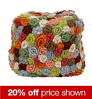 Multicoloured crochet beanbag seat with 20% off