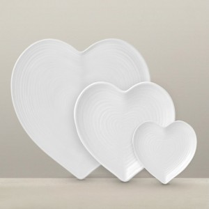 Serve Valentine's Day meals on heart tableware