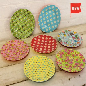 Bright and colourful melamine side plates