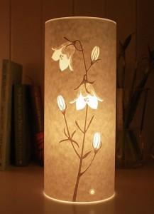 Handmade harebell spring flower British designer lamp