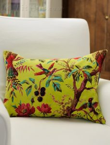 Colourful velvet cushion from Mit Hus