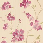 Graham and Brown Enthrall pink floral wallpaper