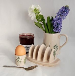 Handthrown country home ceramic tableware by Katrin Moye Design