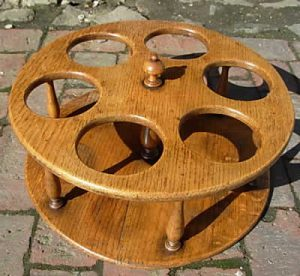 Old oak bottle holder from Tudor Rose Antiques