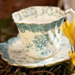 Vintage cup and saucer candles from Francesca and Florence