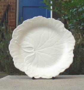 Vintage 1950s Wedgwood white vine leaf plate