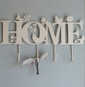 Metal cream hanging Home hooks from Lilac Coast
