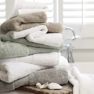 Egyptian cotton bathroom towels