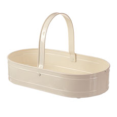 Country cream garden trug