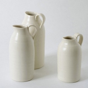 Organic shape handmade ceramic pouring bottle