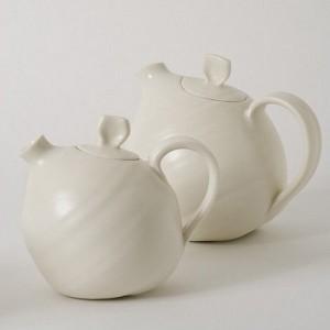 Organic ceramic teapot by Linda Bloomfield