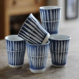 Skagen Danish blue and white mugs