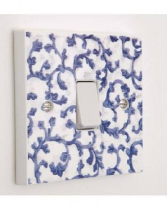 Decorative tile effect light cover switch