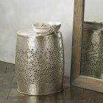 Brass frette decorative stool from Lombok